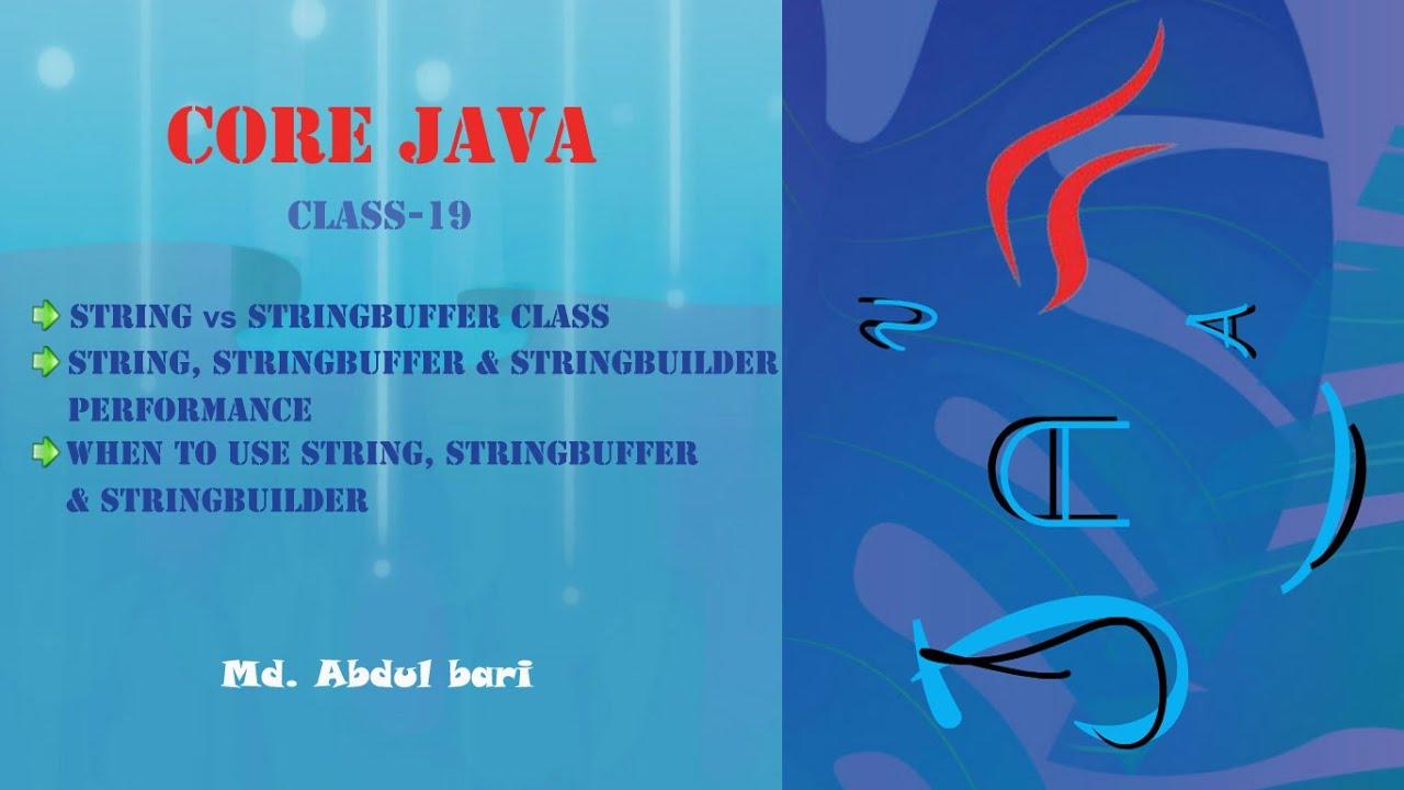 Core Java- Bangla Tutorial(String vs StringBuffer and