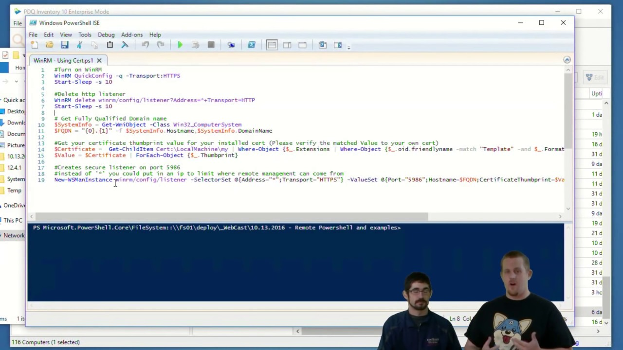 Prepare Your Environment for Remote PowerShell - PDQ com