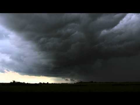Storm Clouds Moving South (16X Real-Time) on August 13, 2011