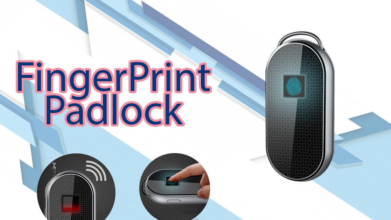 9d85f6c96c34 Royal Defender Fingerprint Padlock - Protect your Luggage with Steel  Retractable Wire