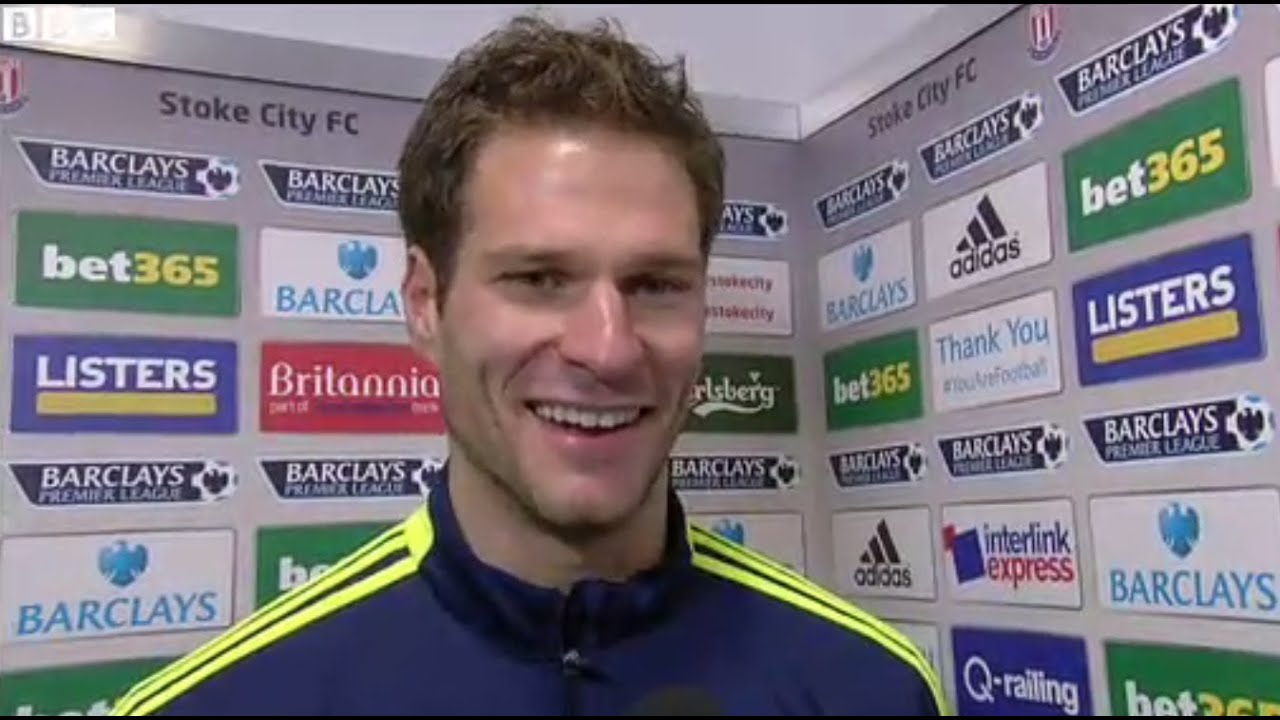 Stoke City Goalkeeper Asmir Begovic Scores A Goal From His Own