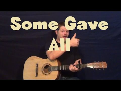 Some Gave All (Billy Ray Cyrus) Easy Strum Guitar Lesson How to Play Tutorial