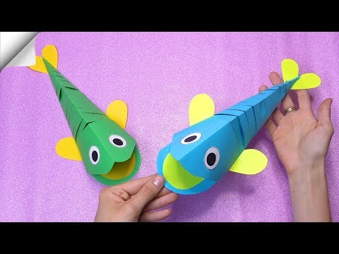 DIY paper crafts for kids | Paper Fish