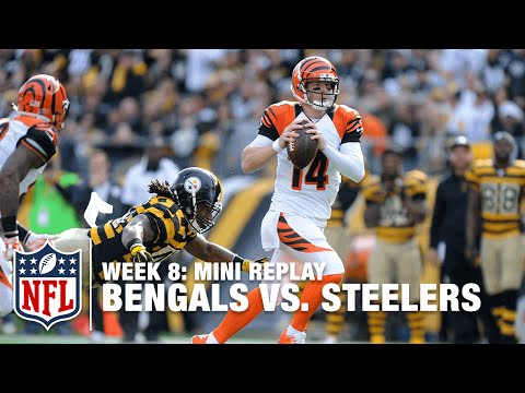 Bengals vs. Steelers (Week 8)   Andy Dalton vs. Ben Roethlisberger Mini Replay   NFL Films