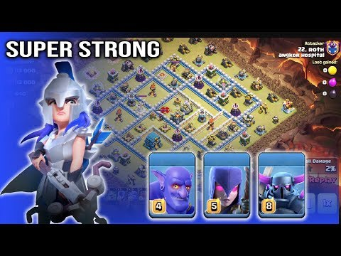 Super Strong!! Queen Charge Max Bowlers Witch Pekka Attack TH12 ( Clash of Clans )