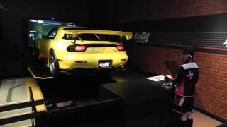 Initial D arcade machine using real cars at Tokyo Joypolis! May 21, 2015