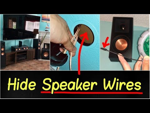 ✅How to Hide & Run Speaker Wires into Wall or Attic Review | Klipsch Home Theater System