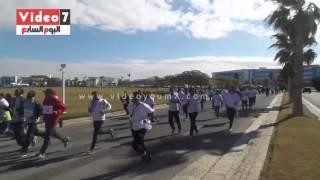 بالفيديو.. ماراثون لطلاب الأكاديمية البحرية لدعم مرضى القلب