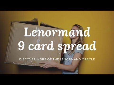 Lenormand 9 card spread aka Box spread.