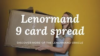 Lenormand 9 card spread aka Box spread.