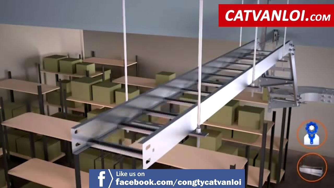 [CATVANLOI.COM] Hướng dẫn cách lắp đặt Thang Cáp