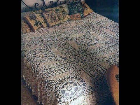 Crochet Patterns For Free Crochet Bedspread 1715 Youtube