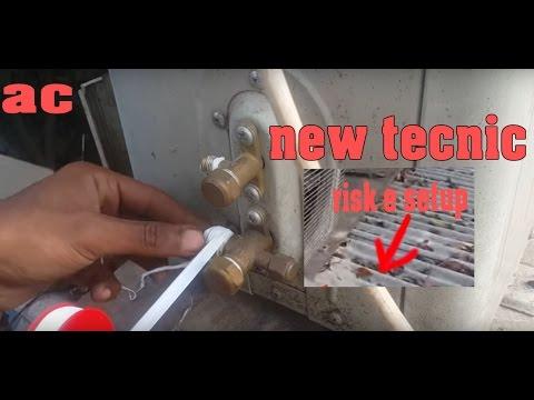 air conditioner installation (How to Install a split ac ) risky setup