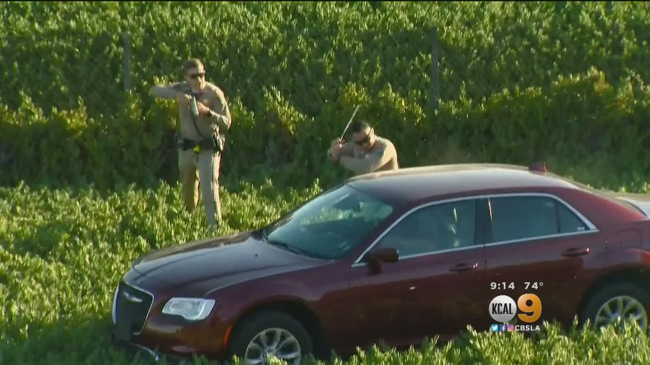2-Hour Pursuit Ends With CHP Bashing In Car's Windows ...