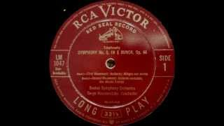 Tchaikovsky: Symphony no. 5 (Koussevitzky - Boston Symphony Orchestra - 1944)