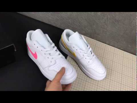 Cw7035 100 Air Jordan 1 Low White Neon 2020 For Sale Youtube