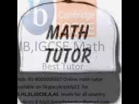 Maths tutor for Cambridge International AS and A Level Mathematics (9709)