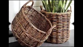 30 идей для использования плетеных корзин