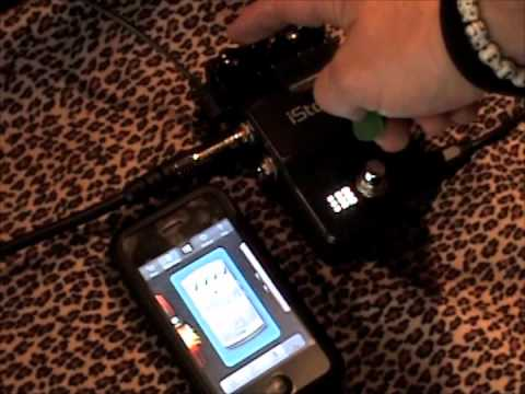 digitech istomp guitar effects pedal with iphone app review youtube. Black Bedroom Furniture Sets. Home Design Ideas