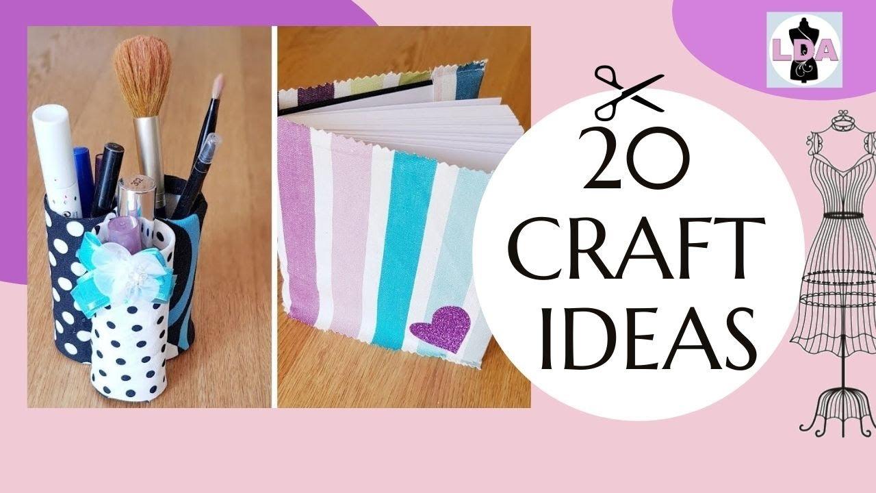 20 Craft Ideas Diy With Fabric Scraps Youtube
