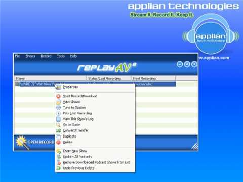 How to Record Streaming Radio Stations using Replay AVs FREE Media Guide