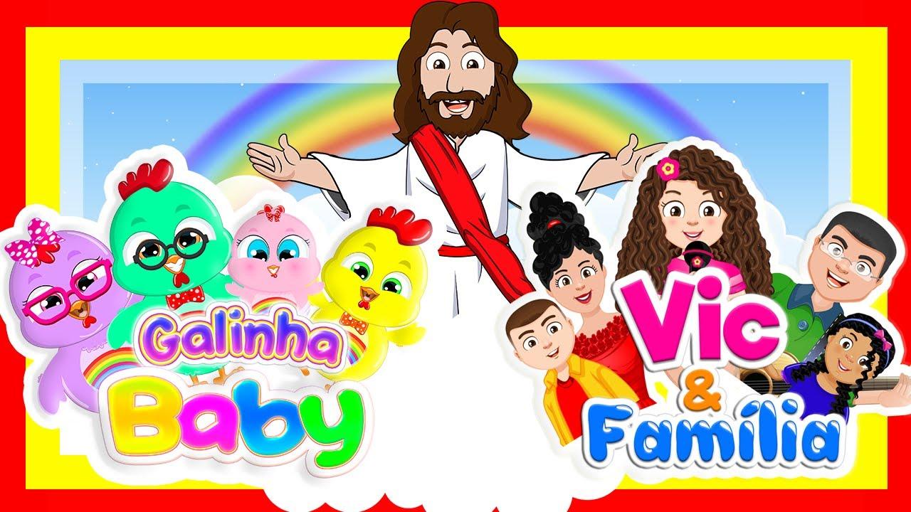 NOVO DVD - Galinha Baby com Vic e Família - DVD Infantil Gospel Vol.1