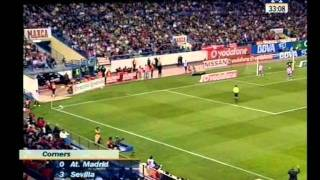 2007/08.- Atlético Madrid 4 Vs. Sevilla FC  3 (Liga - Jornada 10)
