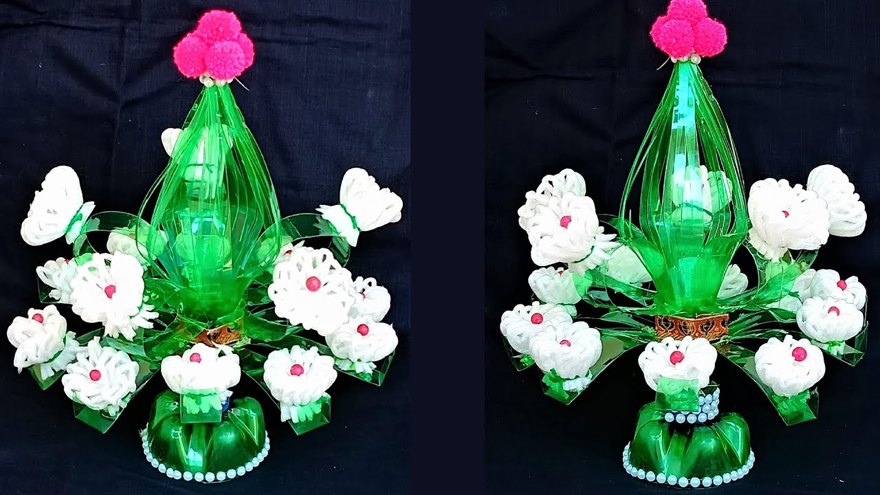 Diy Guldasta Waste Plastic Bottle Flower Vase Flower Pot New