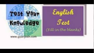English Test Online By Gyanjosh