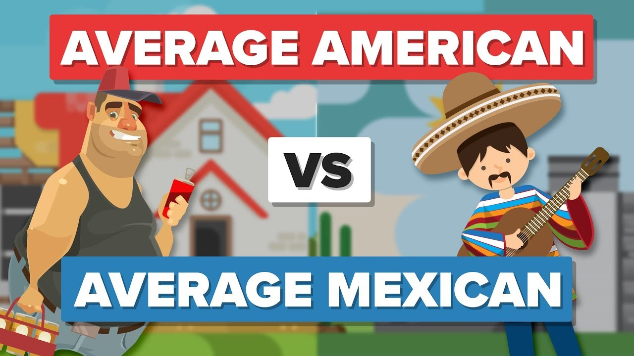 Average American Vs Mexican People Comparison