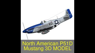 3D Model of North American P-51D Mustang - Moonbeam McSwine Review