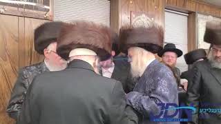 Munkatch And Lelov Rebbes Attend sheva Brochos For The Nadvorna Rebbe's Einikel - Teves 5781
