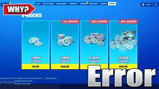 Here's Why You Can't Purchase V-Bucks In Fortnite..
