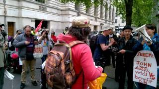 Download Video Paula Peters from DPAC speaking outside Tory HQ MP3 3GP MP4