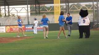 Spinning Around the Bat at Fort Worth Cats Game