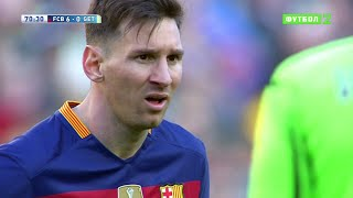 Lionel Messi vs Getafe (Home) 15-16 HD 720p - English Commentary