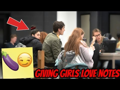 Giving Love Notes To Girls | YBB Kenny