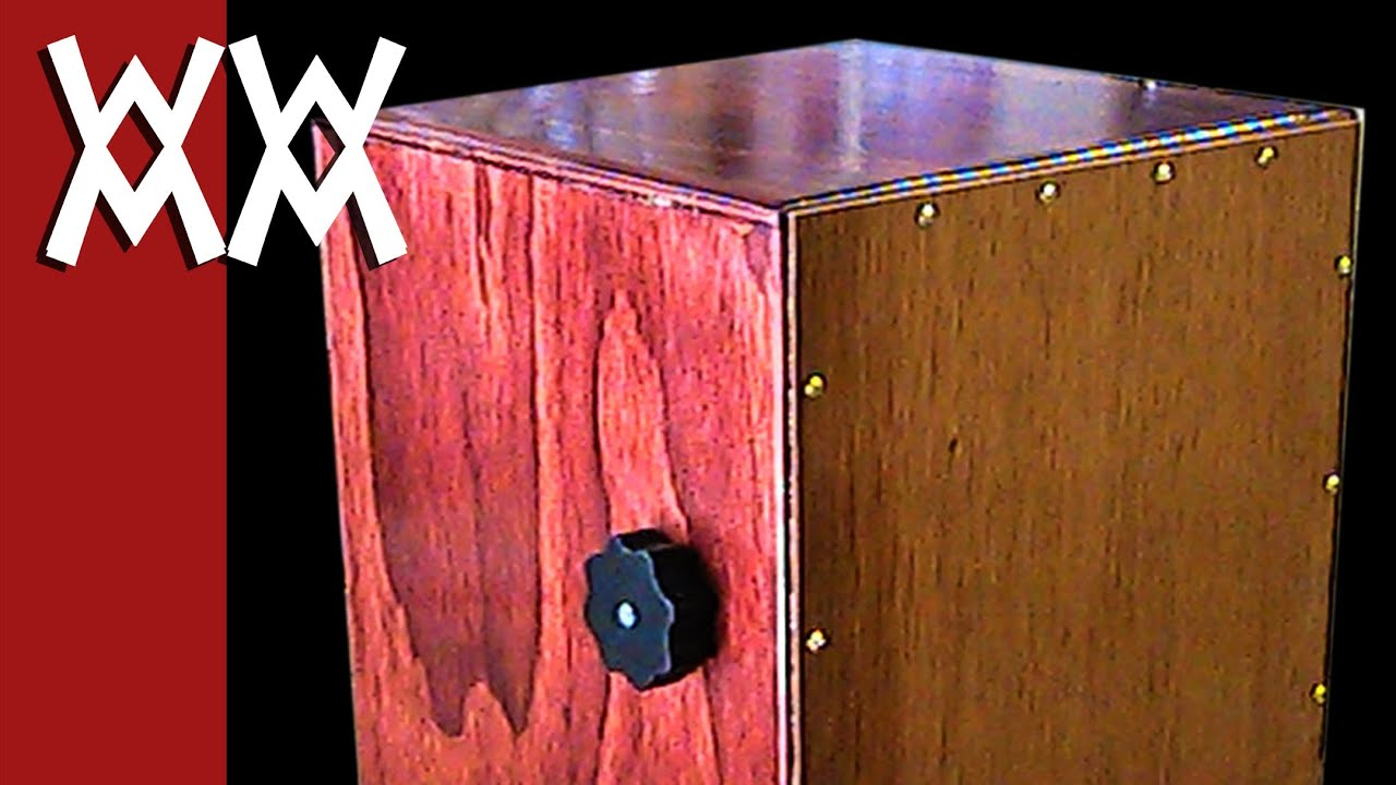 Make a cajon drum with adjustable snare - YouTube