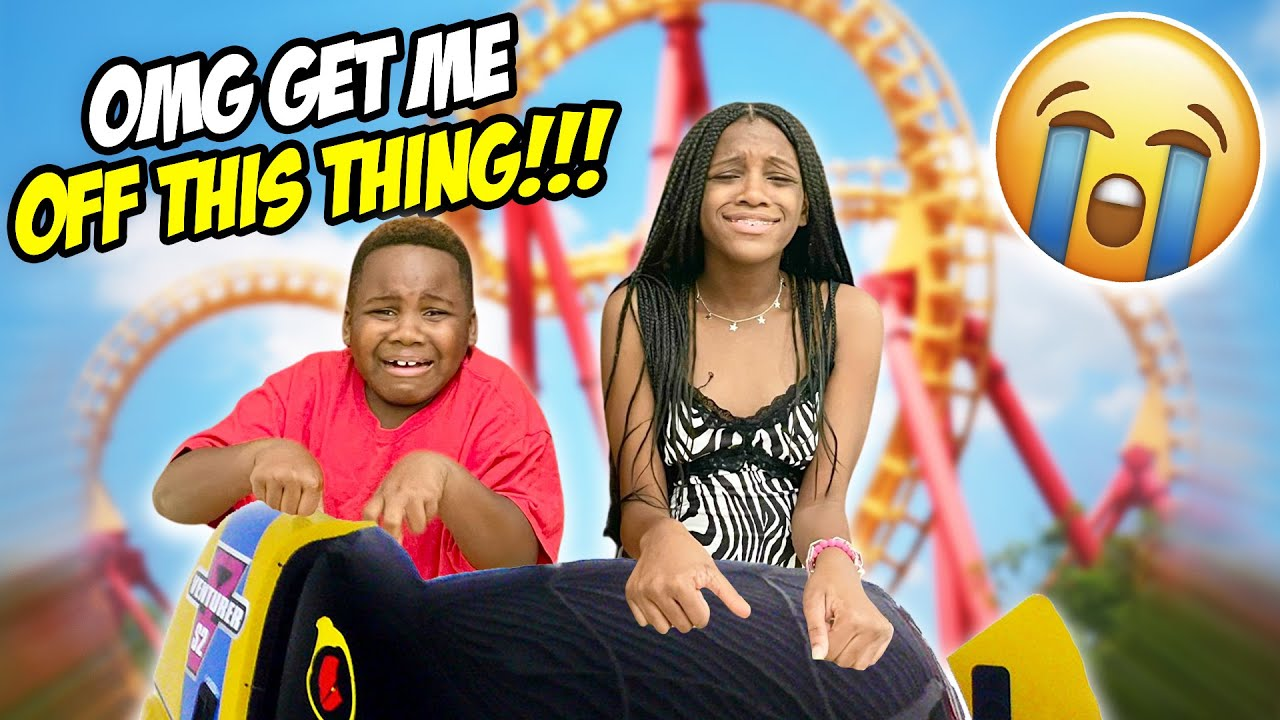 Yaya And Dj Cried On Their First Roller Coaster