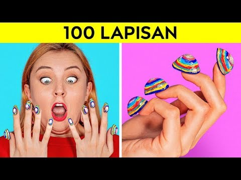 Download TANTANGAN 100 LAPISAN || 100 Lapis Riasan Wajah || 100+ Lapisan Terhebat oleh 123 GO! CHALLENGE