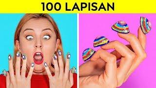 Download Mp3 Tantangan 100 Lapisan || 100 Lapis Riasan Wajah || 100+ Lapisan Terhebat Oleh 12