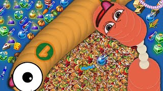 Worms Zone io 001 Biggest Troll Slither Snake Top 01 Best Score Epic WormsZoneio Gameplay