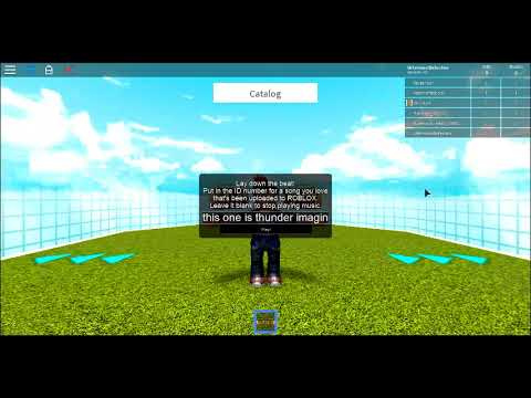 thunder l roblox id code - YouTube