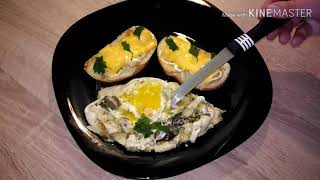 Яичница с солёными огурцами по рецепту ВКУСНОЙ МИНУТКИ + мои вкусные горячие бутерброды.