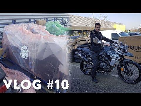 Vlog #10 : Déballage, livraison et récupération de ma Tiger 800 XCa 2018 !
