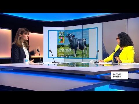 A cow named Fine, star of the Paris Agriculture Fair