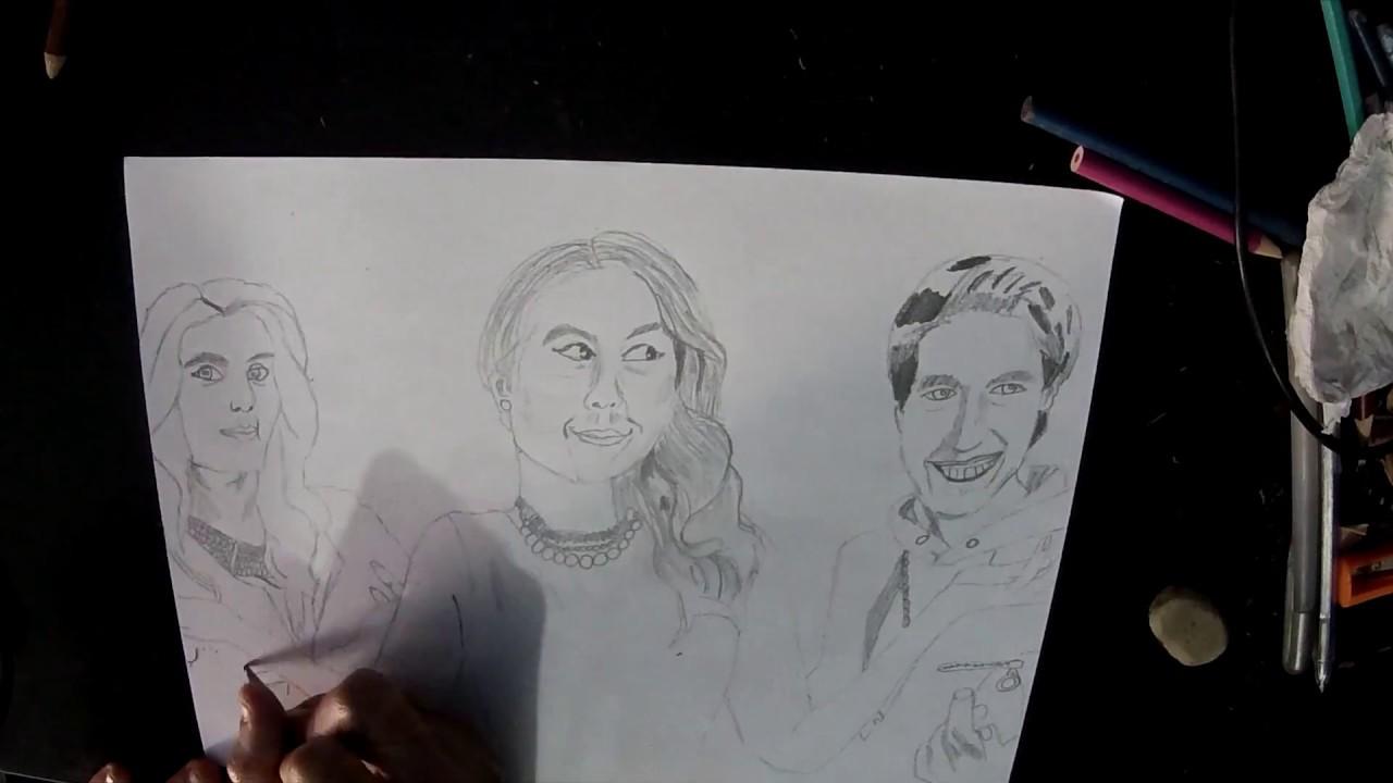 Dibujo A Lápiz Rafa Karen Lesslie Speed Pencil Drawing Los