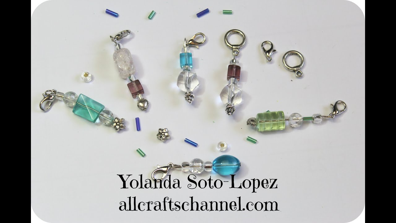 Knitting Stitch Markers How To Make : How to make crochet and knit stitch markers youtube