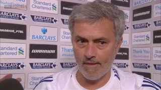 Jose Mourinho refuses to tell Geoff Shreeves the tactics that led Chelsea to victory