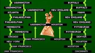 John Madden Football Sega Genesis Championship Game Gameplay Houston vs Washington